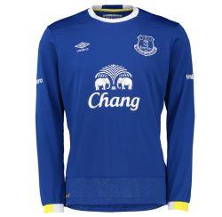 2016-2017 Everton Umbro Home Long Sleeve Shirt