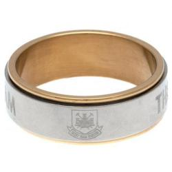 West Ham United F.C. Bi Colour Spinner Ring X-Small CT
