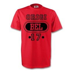 Divock Origi Belgium Bel T-shirt (red)