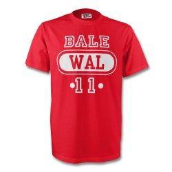 Gareth Bale Wales Wal T-shirt (red) - Kids