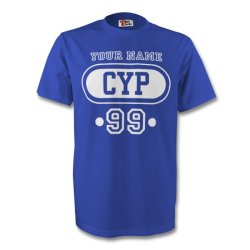 Cyprus Cyp T-shirt (blue) + Your Name