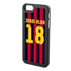 Jordi Alba Iphone 5 Cover (red-blue-yellow)
