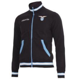 2012-13 Lazio Full Zip Cotton Felpa Jacket (Black)