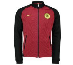 2016-2017 Man City Nike Authentic N98 Jacket (Black-Red) - Kids