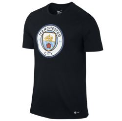 2016-2017 Man City Nike Core Crest Tee (Black)
