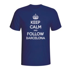 Keep Calm And Follow Barcelona T-shirt (navy)