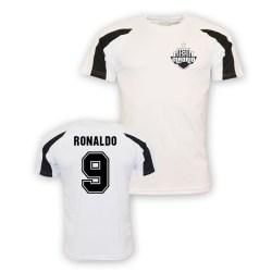 Ronaldo Real Madrid Sports Training Jersey (white)