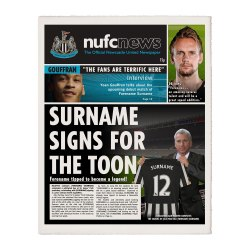 Personalised Newcastle United FC Newspaper