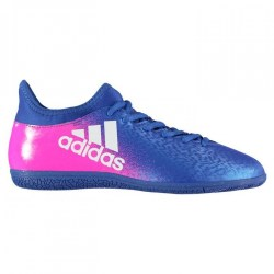 Adidas X 16.3 Mens Indoor Court Trainers (Blue-Pink)
