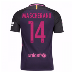 2016-17 Barcelona Away Shirt (Mascherano 14)