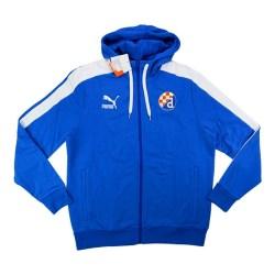 2013-14 Dinamo Zagreb Puma Hooded Sweat Top (Blue)