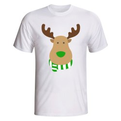 Hibernian Rudolph Supporters T-shirt (white)