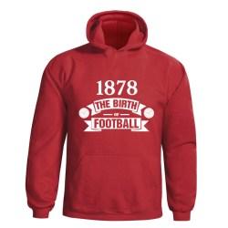 Man Utd Birth Of Football Hoody (red) - Kids