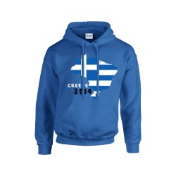 Greece 2014 Country Flag Hoody (blue)