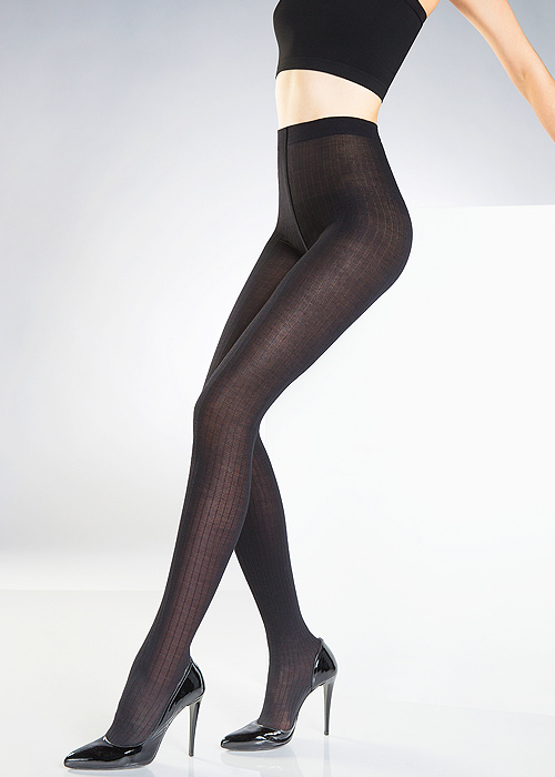 pierre mantoux coste100 denier ribbed wool tights