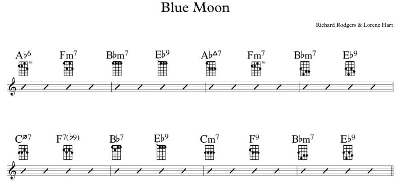 Blue Moon Blumen IN Rot Budget Aber Spielbar Uke Ideal Für Kinder