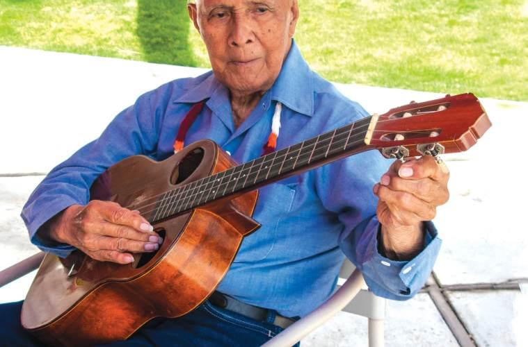 Ukulele virtuoso Eddie Kama