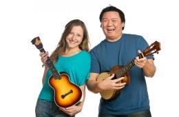 Ukulele duo Sarah Maisel and Craig Chee