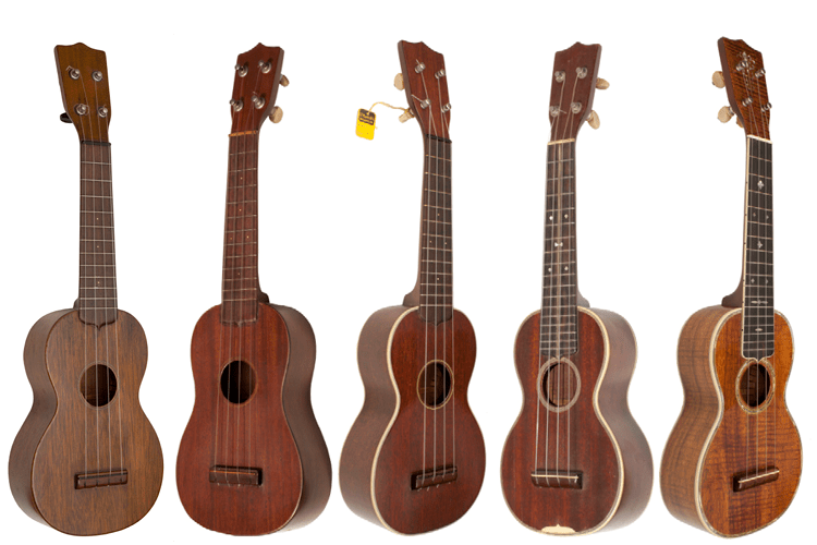 100 Years of C.F. Martin Ukuleles style 1 2 3 Historic Ukes