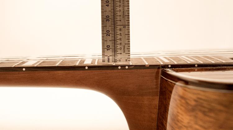 measuring string height on a ukulele