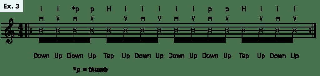 Ukulele Flamenco rumba strum example 3
