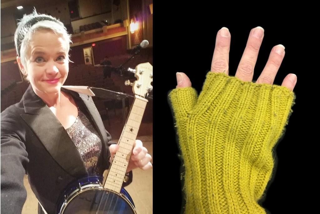 picking hands of ukulele player Mim