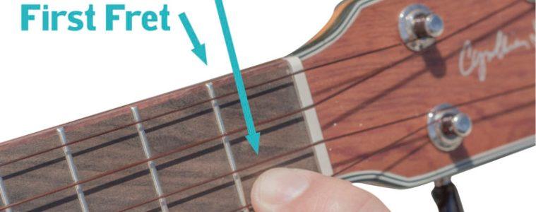 your first ukulele lesson finger position, first finger, first fret