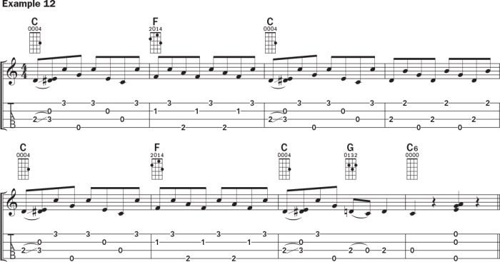 Ukulele banjo rolls example 12