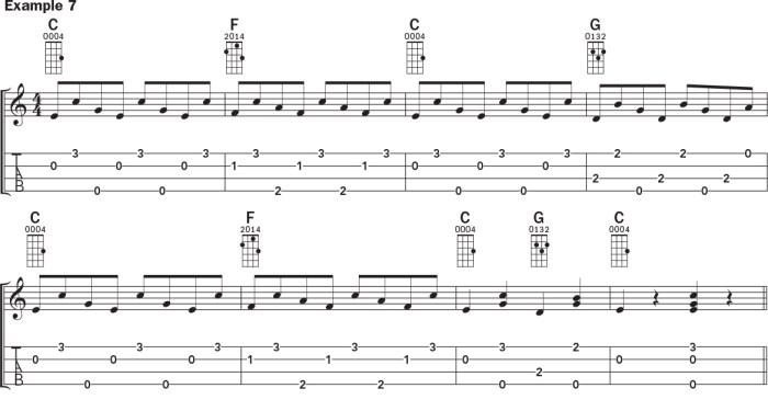 Ukulele banjo rolls example 7