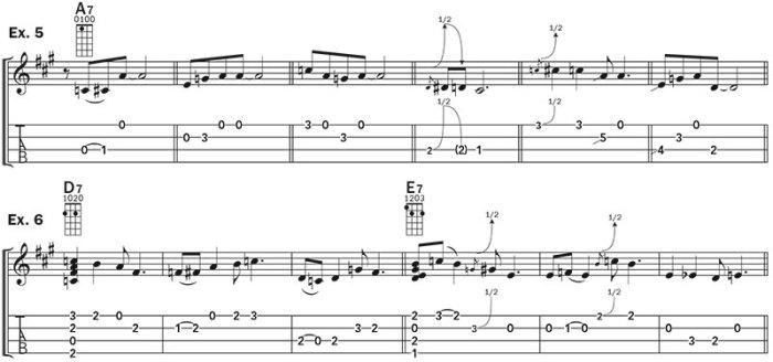 ukulele blues improv lesson example 5