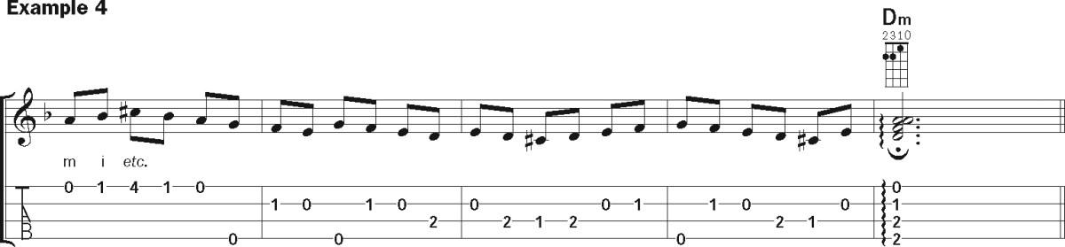 Flamenco ukulele lesson music notation 4