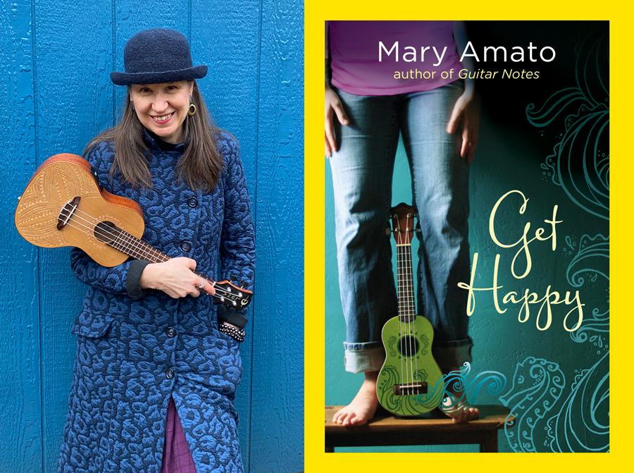 """Author Mary Amato and her ukulele-centric YA novel """"Get Happy"""""""