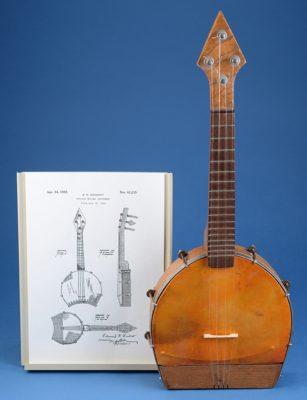 The Jazuke: A banjo uke with a horseshoe-shaped body.