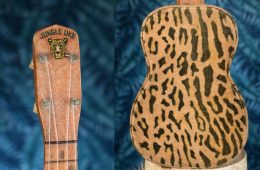 Regal Jungle Uke close up of body and headstock ukulele history