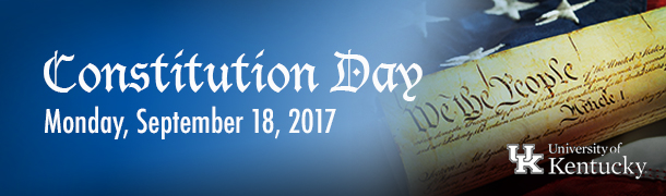 Constitution Day at UK 2017