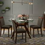 Wesley Dalla 4 Seater Round Glass Top Dining Table Set Urban Ladder