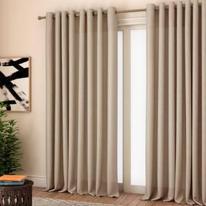 milano window curtains set of 2 beige 132 x 152 cm 52 x 60 curtain size eyelet pleat