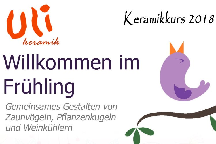 Keramik Frühlingskurs 2018