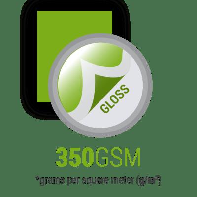 Wizytówki laminowane na gloss 350gsm