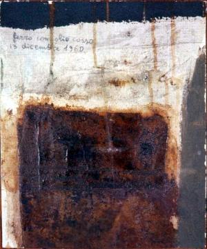 Ruggine e cento su tela, 1960