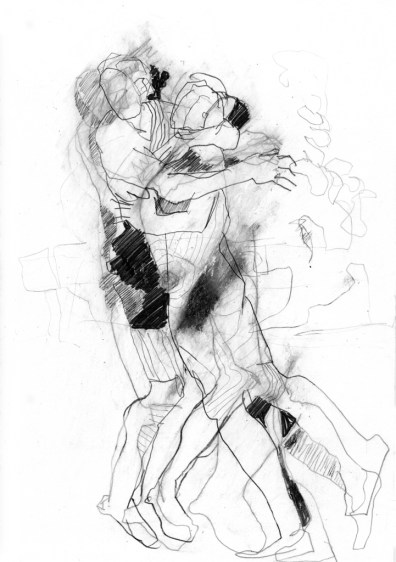 Serie Alles in Bewegung 14 | 2010 | Mischtechnik auf Papier | ca. 28 x 20 cm