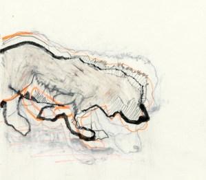 Hund | 2010 | Mischtechnik auf Papier | ca. 20 x 20 cm | ----