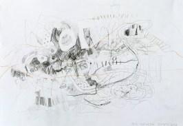 Serie 'Hör zu' 06 | 2013 | Mischtechnik auf Papier | 29,7 x 42 cm