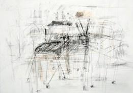 Serie 'Hör zu' 01 | 2013 | Mischtechnik auf Papier | 29,7 x 42 cm