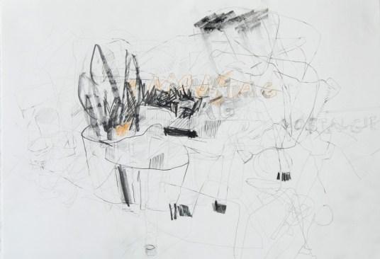 Serie 'Hör zu' 02 | 2013 | Mischtechnik auf Papier | 29,7 x 42 cm
