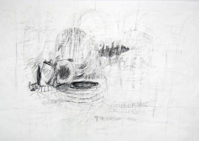 Serie 'Hör zu' 01 | 2013 | Mischtechnik auf Papier | 42 x 59,4 cm