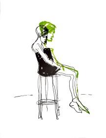 Und nun ...? | 2015 | 2farbige Lithografie auf Büttenpapier | 50 x 39 cm