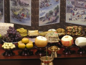 JeSa table. All items must be placed according to their food group and color. The table must also be arranged facing east