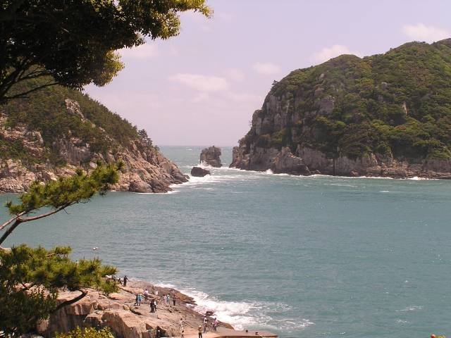 The rugged coast has been scoured by the wind and water for eons
