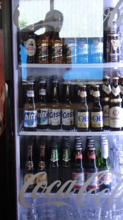 The well stocked beer fridge